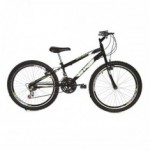 Bicicleta Aro 24 Preta Rharu Combate 18v