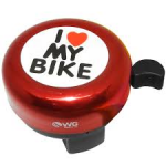 Buzina Trim Trim I LOVE MY BIKE WG SPORTS - Vermelha