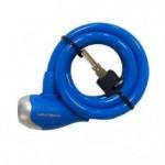 Cadeado espiral revestido 12X1000 azul - Maxtrava