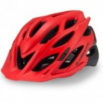 Capacete Ciclismo Absolute Wild Verm/pto Fosco Luz Led M/g