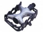 Pedal 1/2 de Alumínio e Aço Wellgo LU964 - Preto com Prata